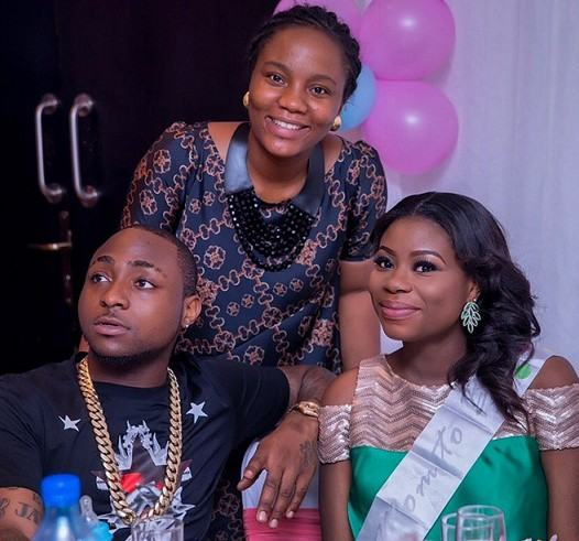 Davido at his baby mama's baby shower