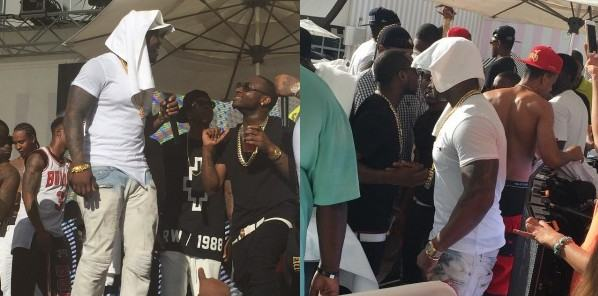 Davido parties on stage with 50cent