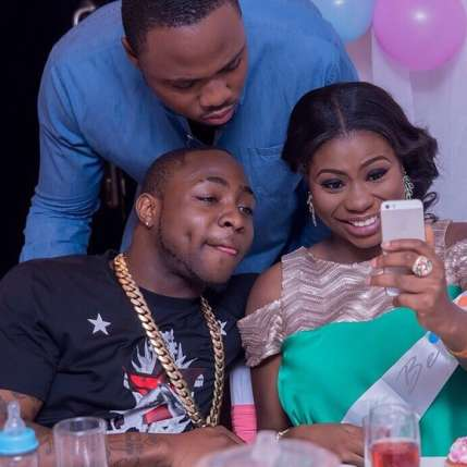 Davido with his baby mama Sophie