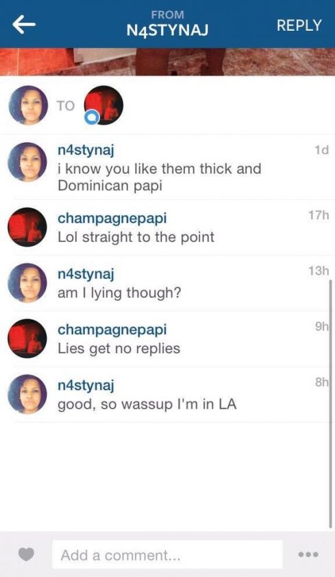 Dominican chick tries to hook up with rapper Drake on instagram