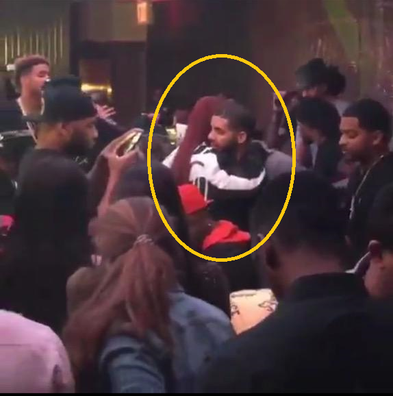 Rihanna and Drake in tight embrace