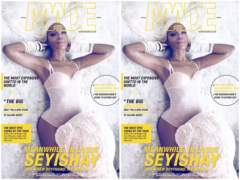 Seyi Shay sexy for the cover of Made Magazine
