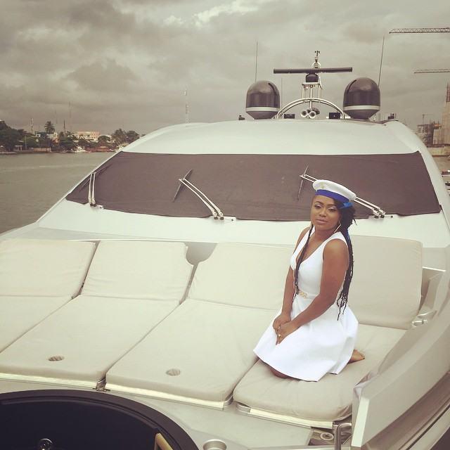 Tiwa Savage's all white baby shower