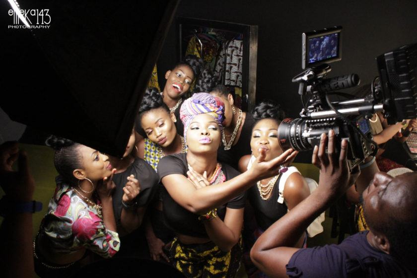Photo from Yemi Alade's 'Pose' video shoot featuring R2Bees