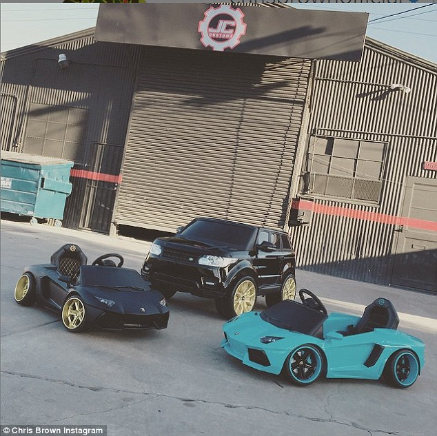 Chris Brown buys his daughter mini replicas of his expensive sports cars