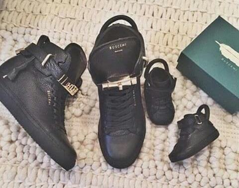 Davido Buys Matching Buscemi Shoes For Himself and His Daughter