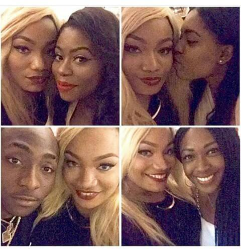 Davido, Sophie and friends