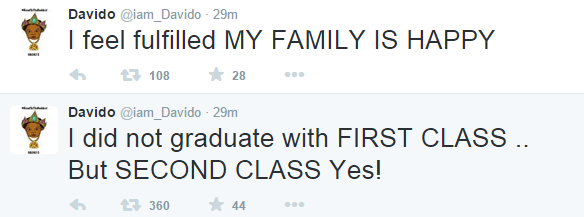 Davido reacts to stories he graduated with a first class