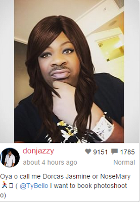 Don Jazzy shares his own female transformation photo