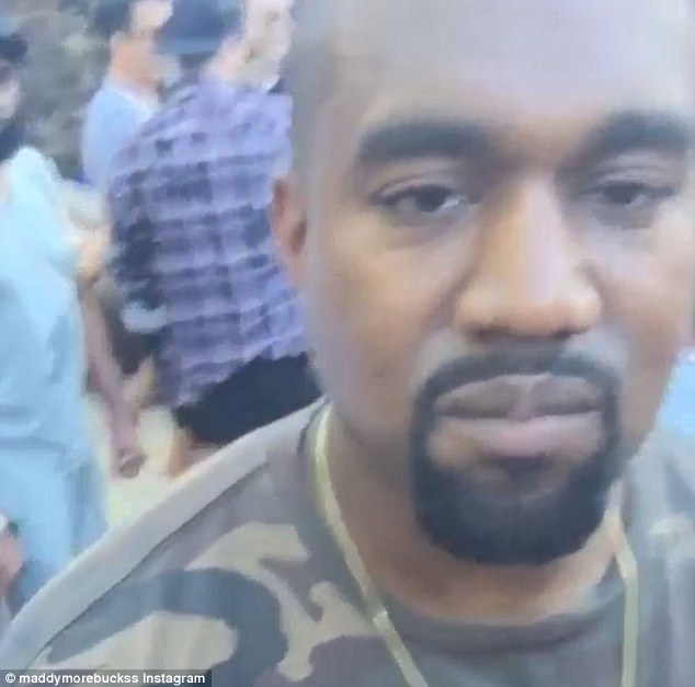 Kanye West at Drake's birthday party
