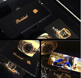 Malivelihood designs custom made diamond and gold Rolexes for Davido and Meek Mill