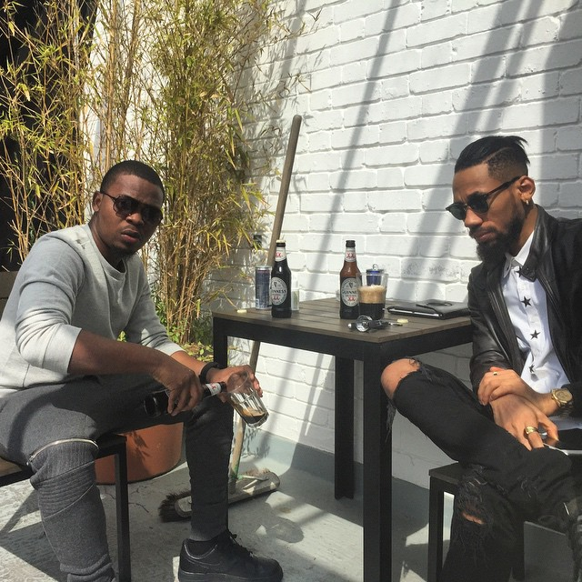 Olamide and Phyno chilling in London