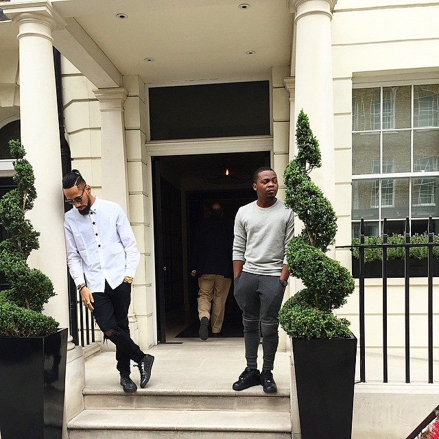 Olamide and Phyno spotted in London