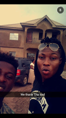 Reekado Banks completes house for his parents