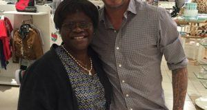 Tiwa Savage's mum and David Beckham