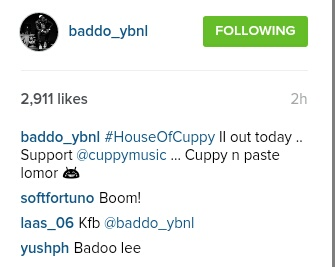 baddo supports cuppy