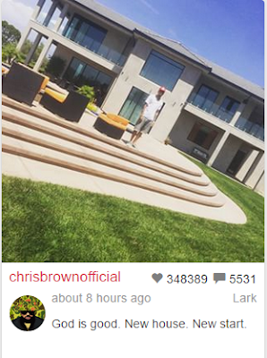 Chris Brown moves into new house