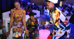 Kate Henshaw Spotted Dancing With Kiss Daniel