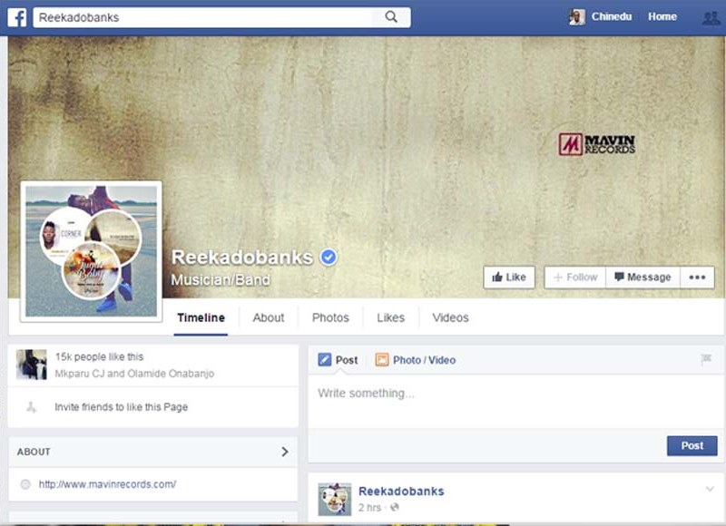 Reekado Banks Gets Verified On Facebook