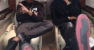Wizkid and Phyno Fly To South Africa In Private Jet