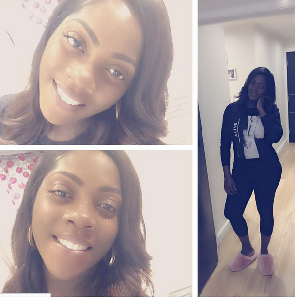 Tiwa Savage shows off sexy post baby body