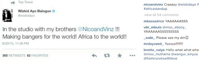 Wizkid collaborate with Nico and Vinz