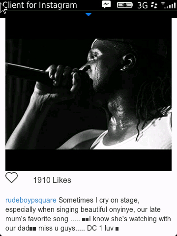 Paul Okoye of PSquare gets emotional as he remembers his late mum