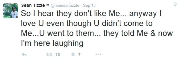 Sean Tizzle's reply