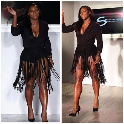 Serena Williams at her NYFW show