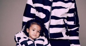 Chris Brown and Royalty cute in matching outfits