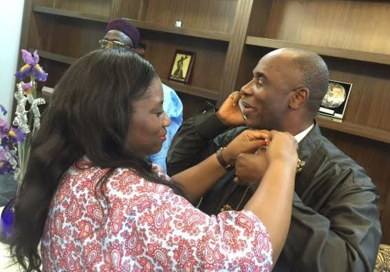 Loving Photos of Rotimi Amaechi & His Wife After Ministerial Screening
