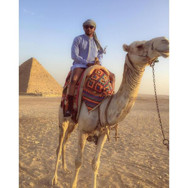 Sean Tizzle Vacation In Egypt