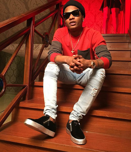 Wizkid on His Zanotti Footie