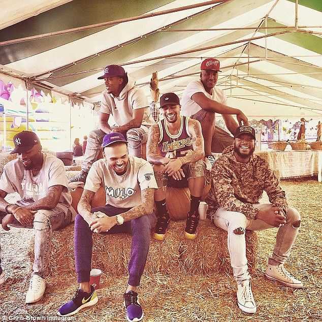 Chris Brown and friends
