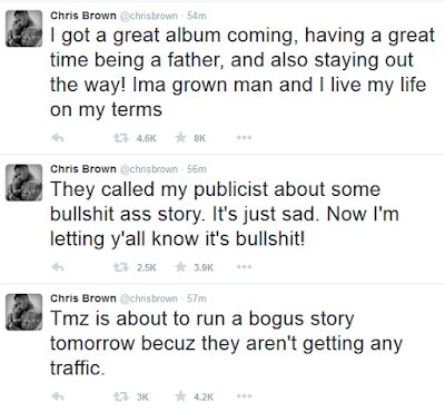 Chris Brown cries out