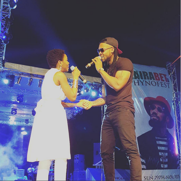 Flavour and Chidinma performing at Phyno Fest