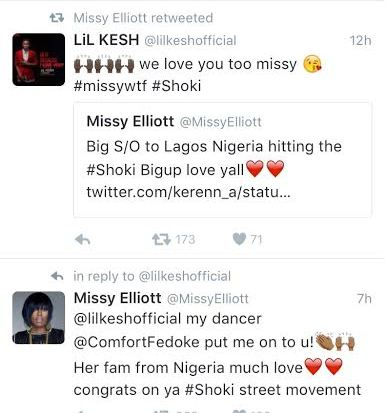 Lil Kesh gets a shout out from Missy Elliot