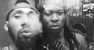 Phyno And Flavour Smoking Weed In The Studio