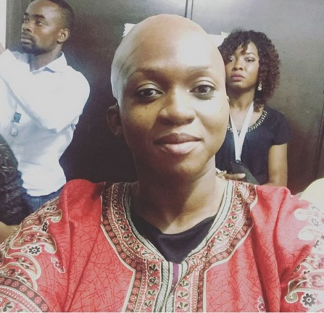 Queen Waje Iruobe goes bald