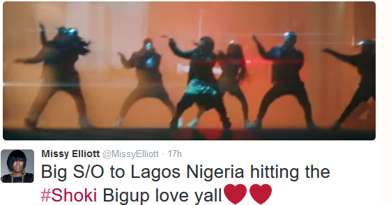 Missy Elliot gives shout out to Nigeria after dancing Shoki in her new video