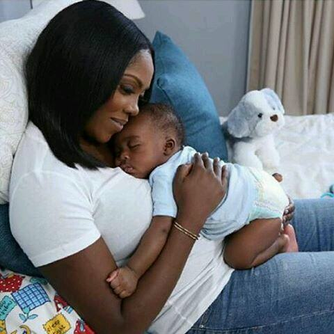 Tiwa Savage cuddles her son in adorable photo