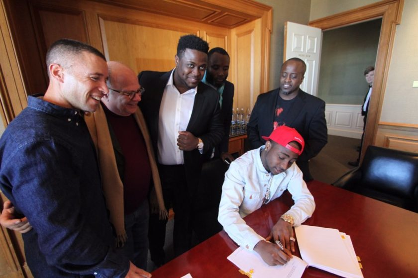 Davido signs with Sony Music Global