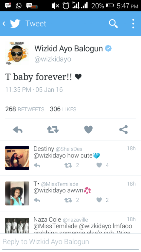See Wizkids Reaction to Rumours of him Dating Zambian vixen