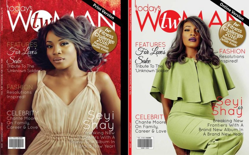 Seyi Shay Covers January edition of Two woman Magazine