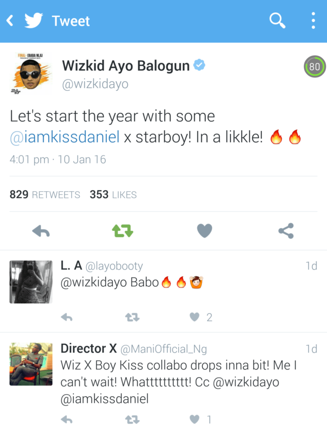 Wizkid Announces Collaboration With Kiss Daniel