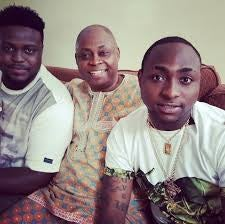 davido, wale and dad
