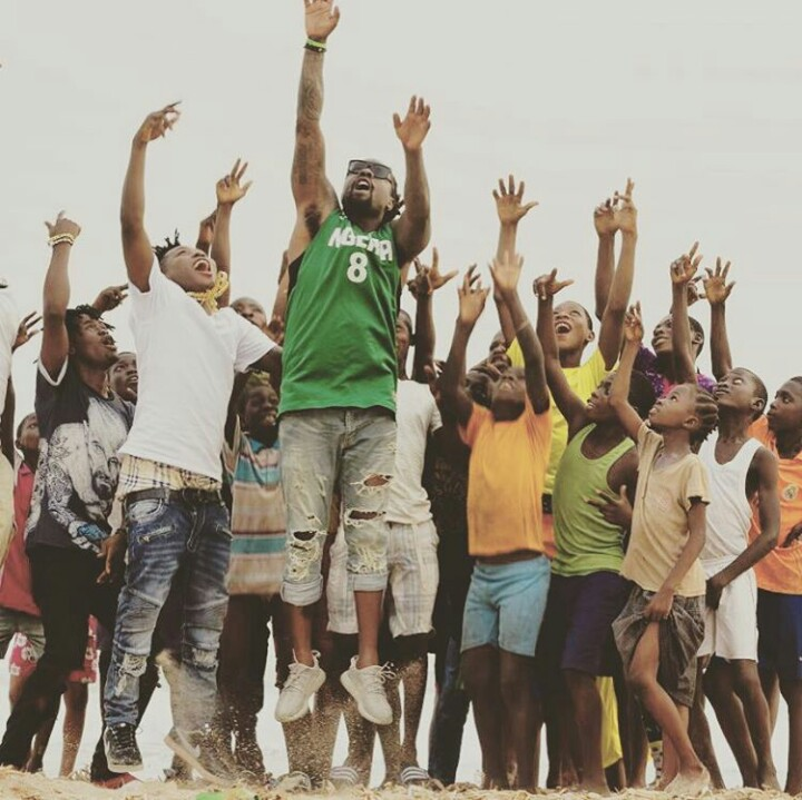 American Rapper Wale Pictured with Reekado Banks at Lagos Beach