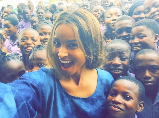 Ciara Rocks Iro & Buba As She Visits Secondary School in Lagos