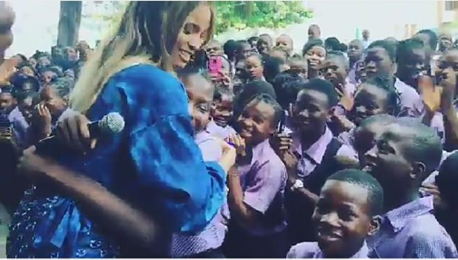 Ciara Rocks Iro & Buba, Visits Secondary School in Lagos