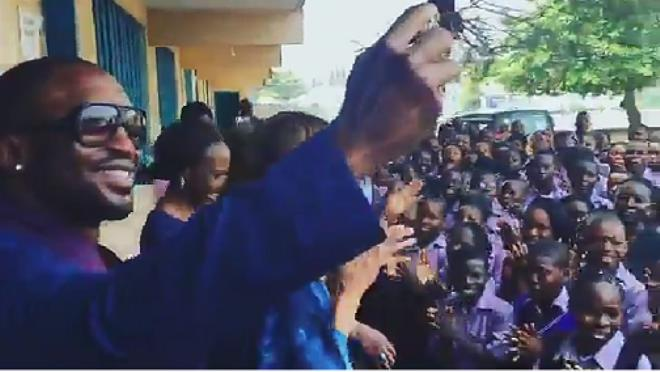 Ciara Visits Secondary School in Lagos